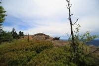 Der höchste Punkt auf dem Steinbühler Gesenke: Kahl und ausgesetzt