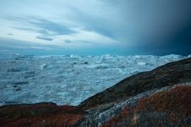 Morgendämmerung im Eis
