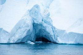 Wasserfall im Eis