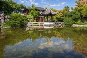 Der zentrale Teich in Lan Su