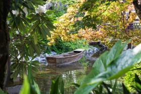 Das Boot auf dem Teich