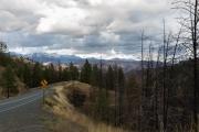 Auf dem Hwy 395 kurz vor John Day: Strawberry Mountain im Schnee