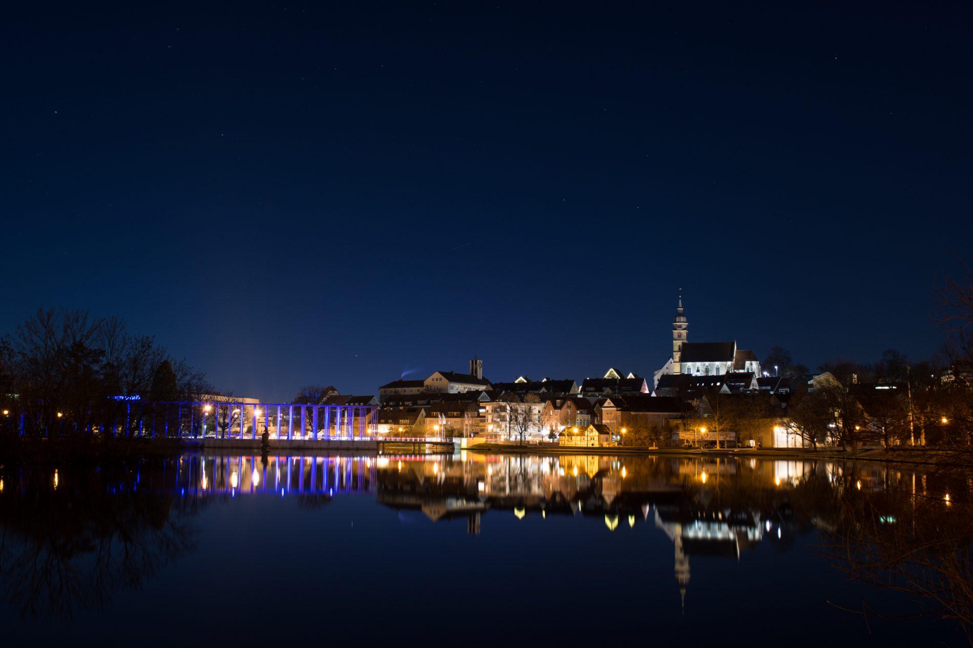 Böblingen, See, Nacht
