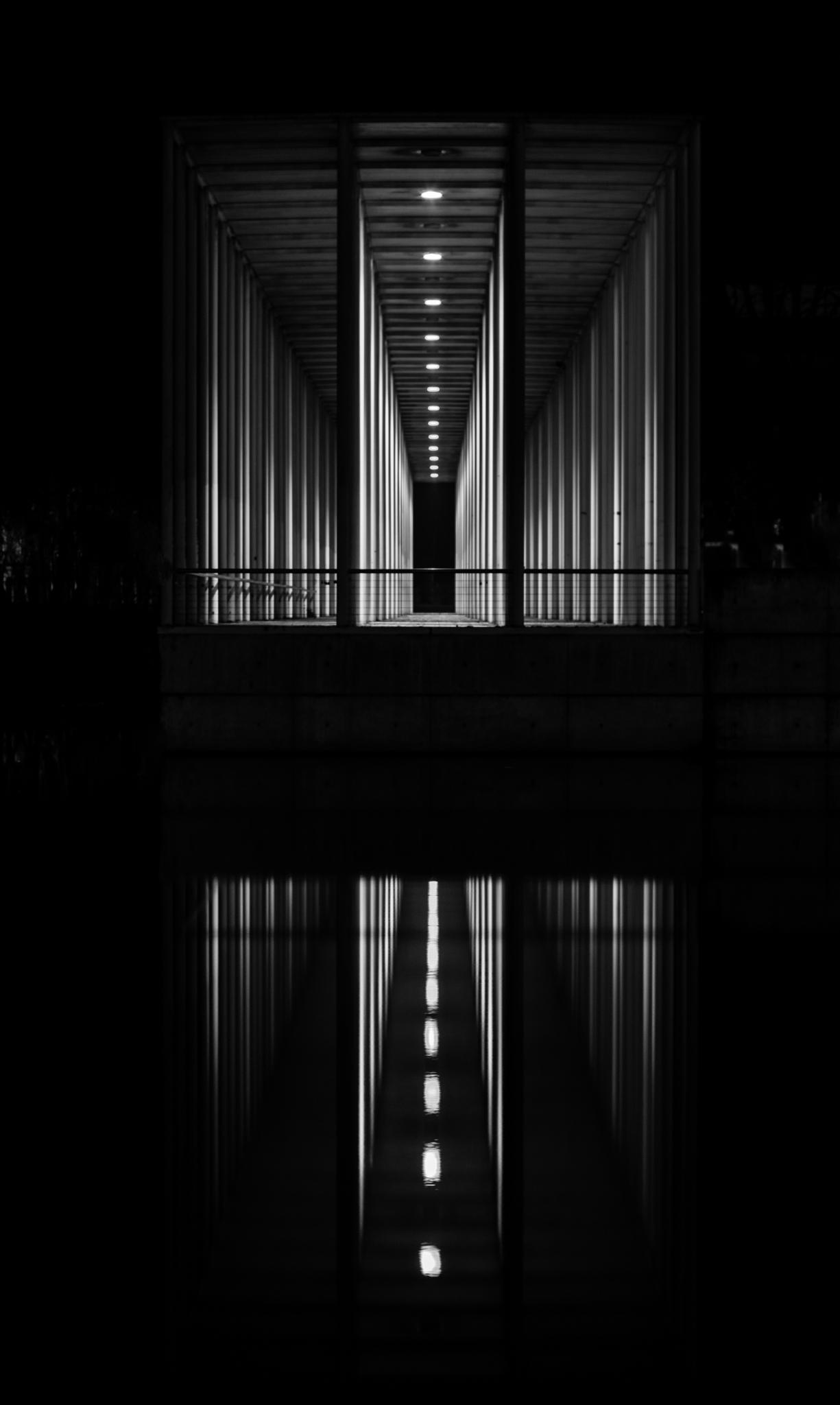 Böblingen, Am See, Nacht