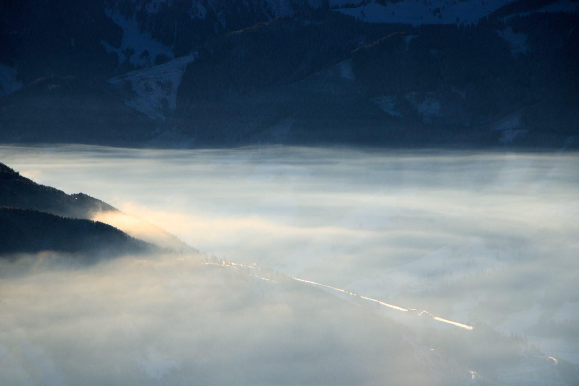 Frühnebel, Zell am See, Alpen