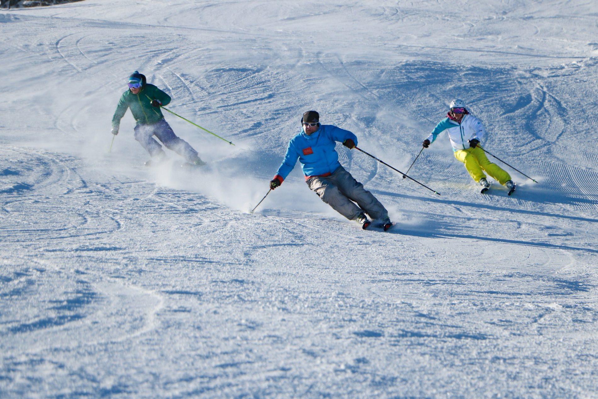 Steffen Stoll, Stefan und Geli Reutter, Skifahren