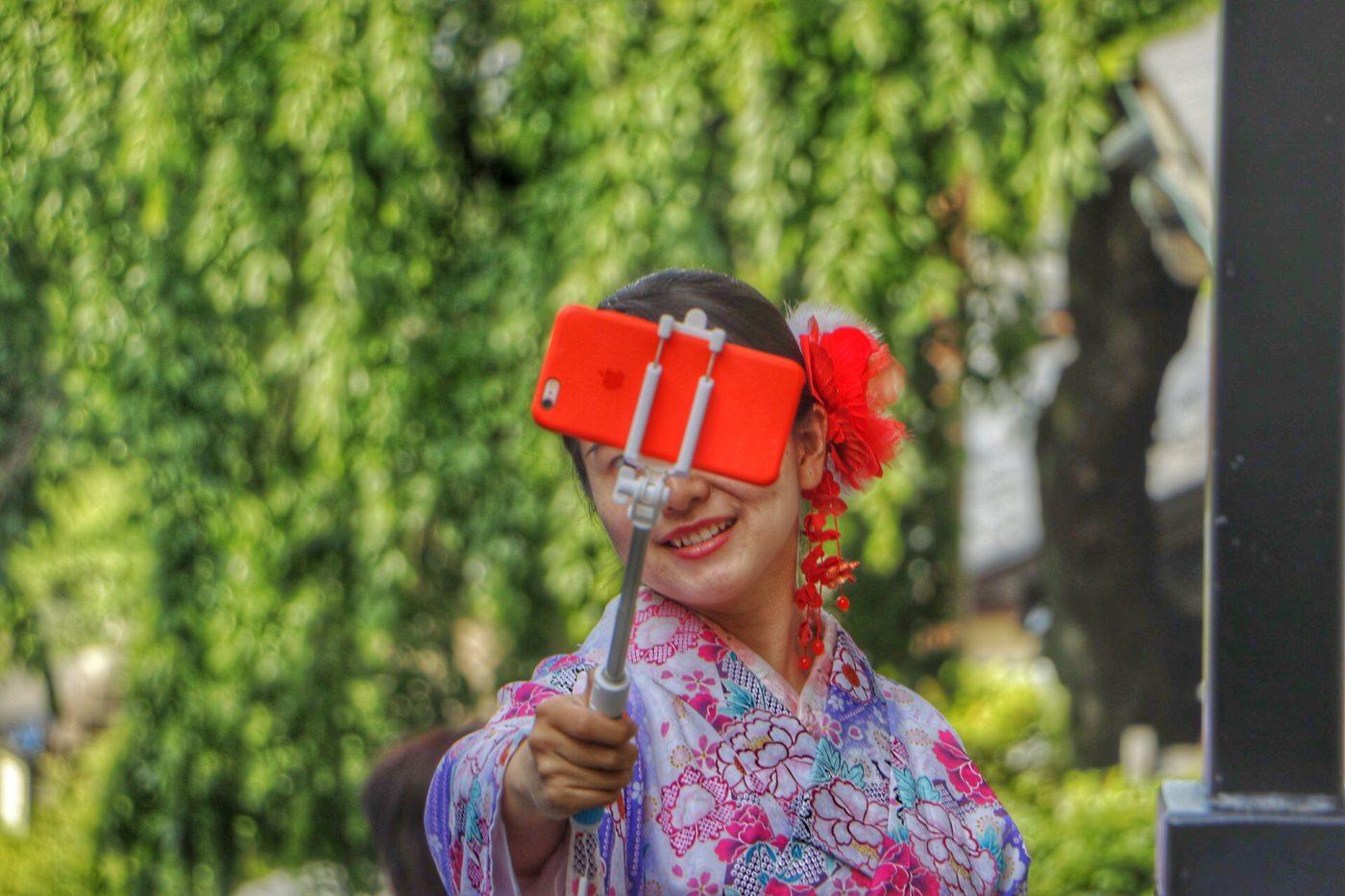 Selfie, Kimono, Kyoto, Japan