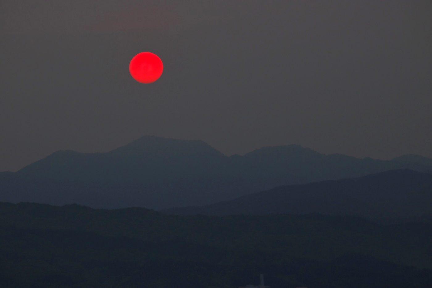 Sonnenuntergang am Pazifik, Hakodate, Hokkaido, Japan