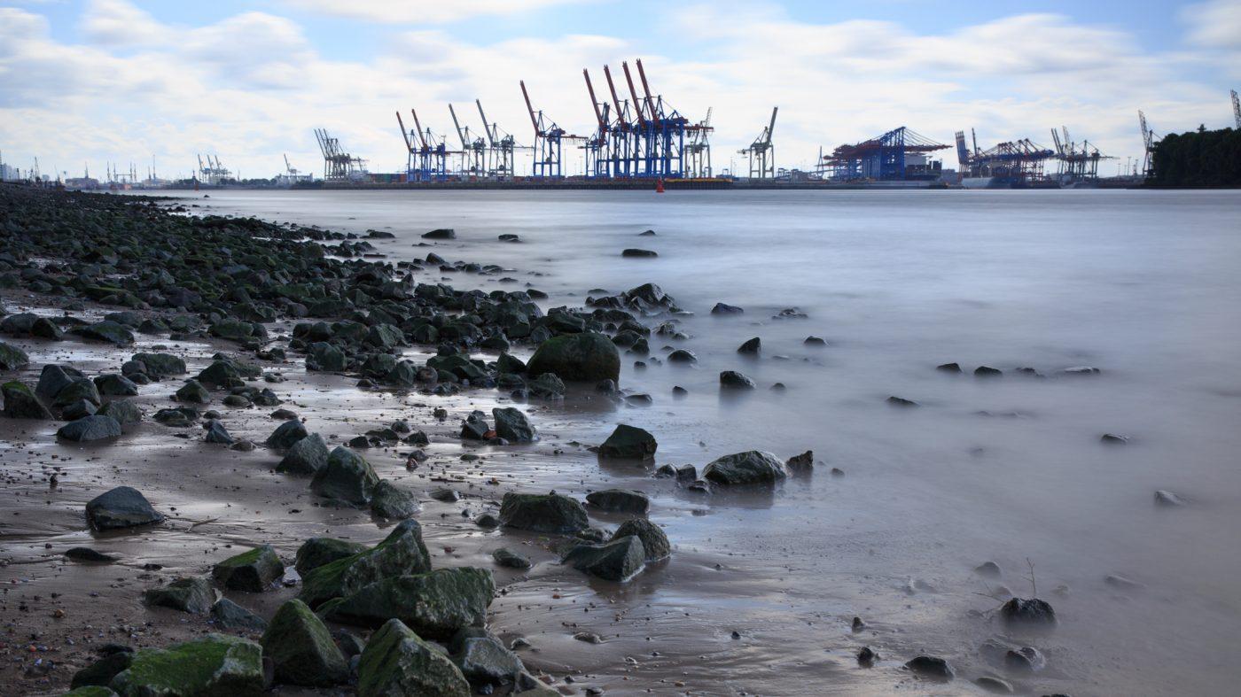 Hamburg, an der Elbe, Hafen