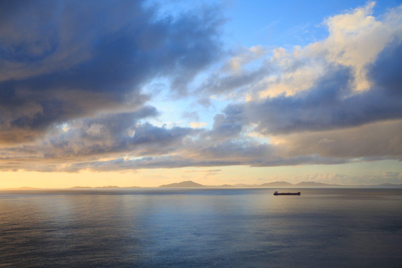 Isle of Skye, Schottland, Sonnenuntergang am Meer