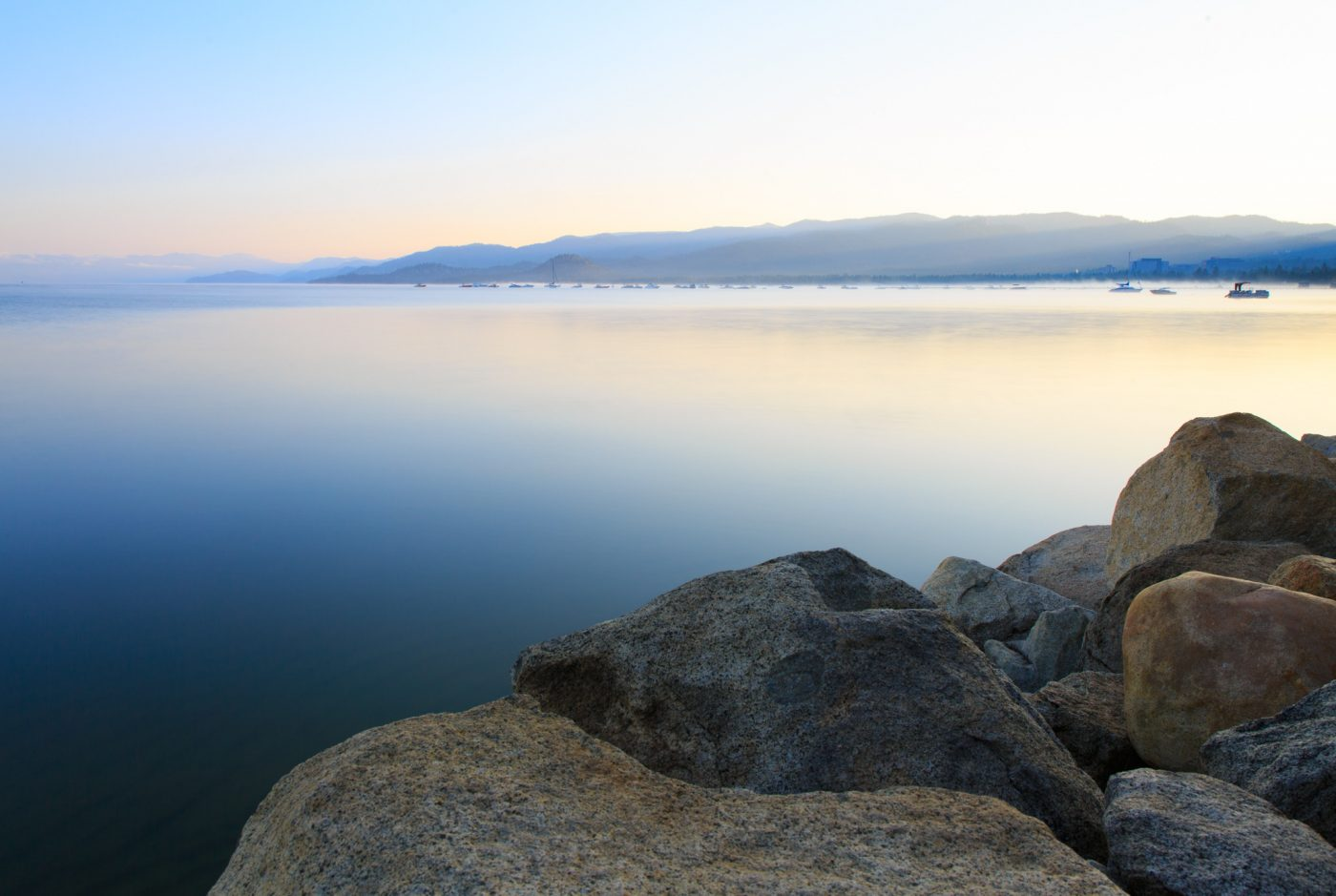Photo: Lake Tahoe at sunrise