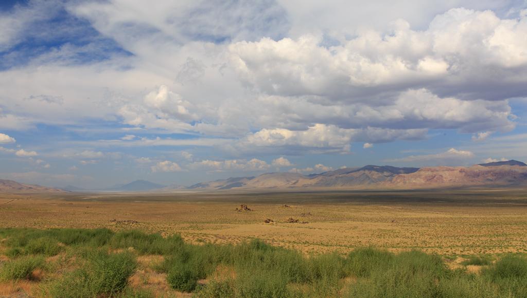 Auf dem Weg nach Gerlach: Winnemucca Lake, Nevada, Wüste