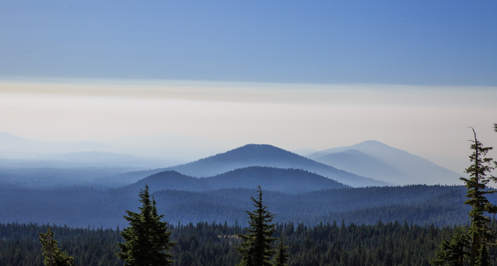 Photo: The smoke line from above