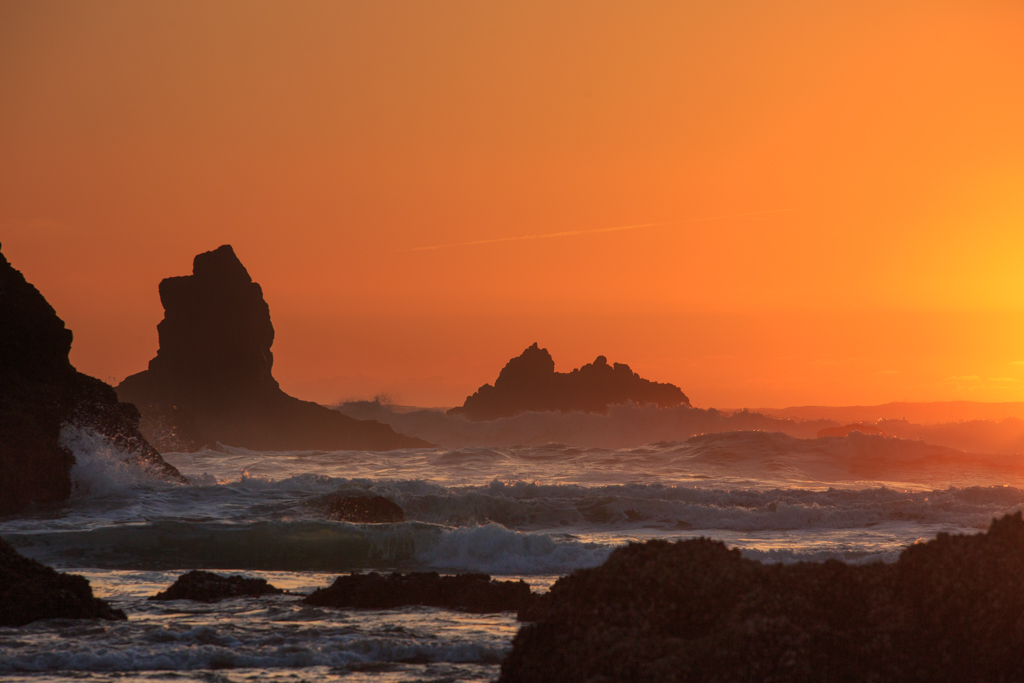 Cannon Beach, Oregon, Sonnenuntergang, Pazifik