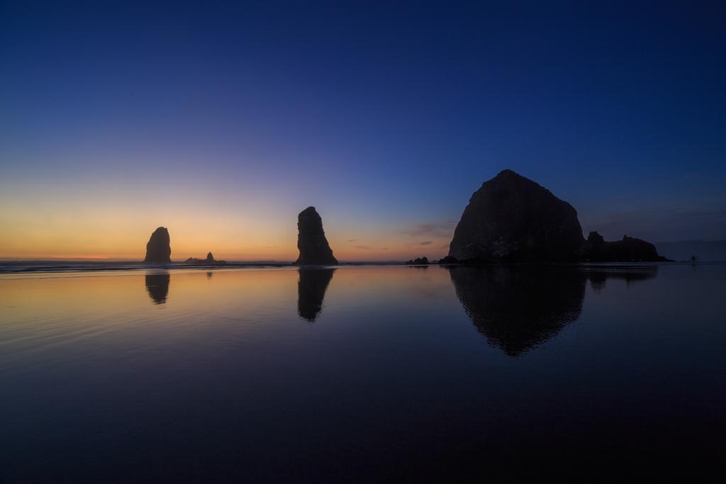 Cannon Beach, Oregon, blaue Stunde