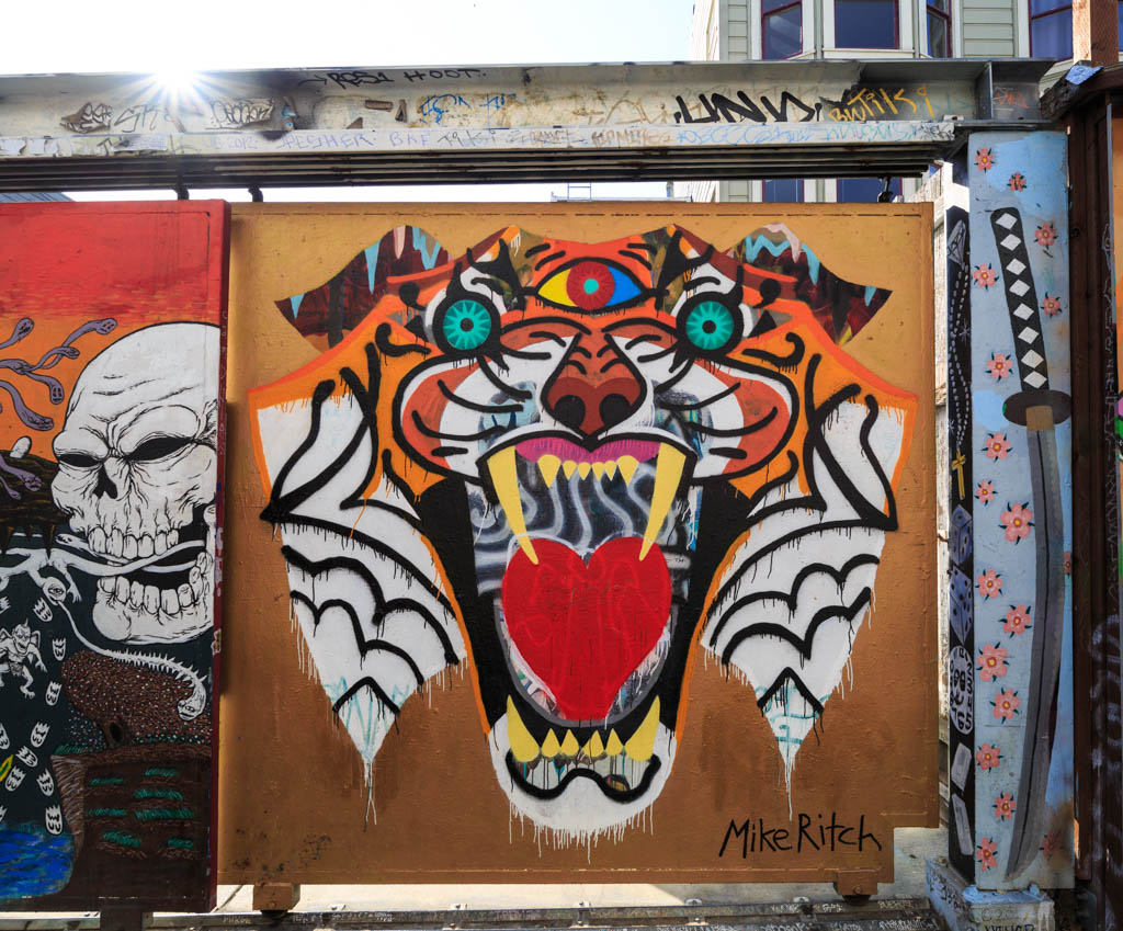Clarion Alley Tiger Mural San Francisco