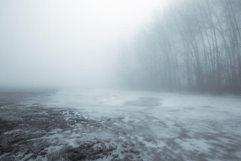 In Nebel und Eis am Rhein entlang, Winter