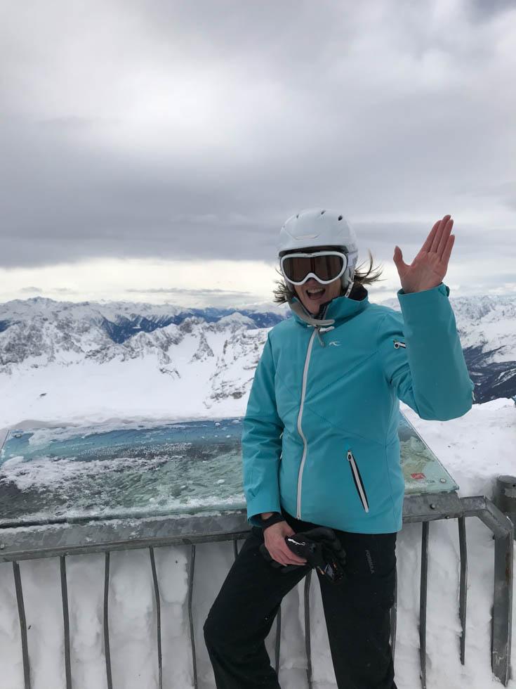 Auf der Zugspitze: Vorfreude aufs Skifahren
