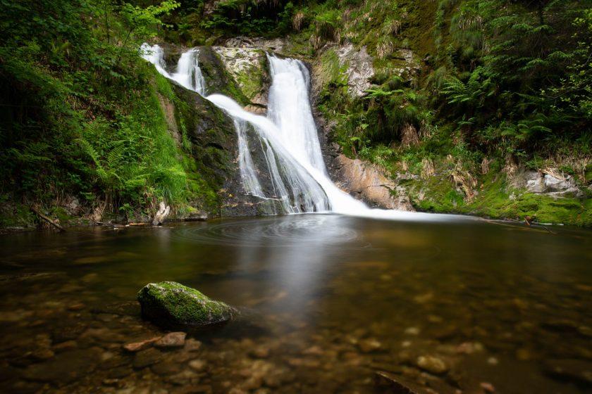 Die unterste Stufe der Allerheiligen-Wasserfälle