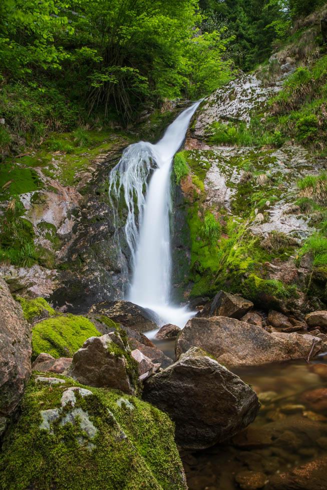 Eine Stufe weiter oben an den Allerheiligen-Wasserfällen