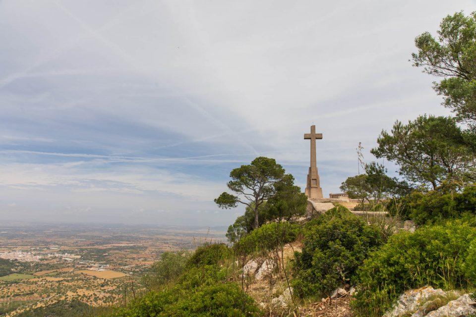 Blick über das Land am Creu de San Salvador, Mallorca