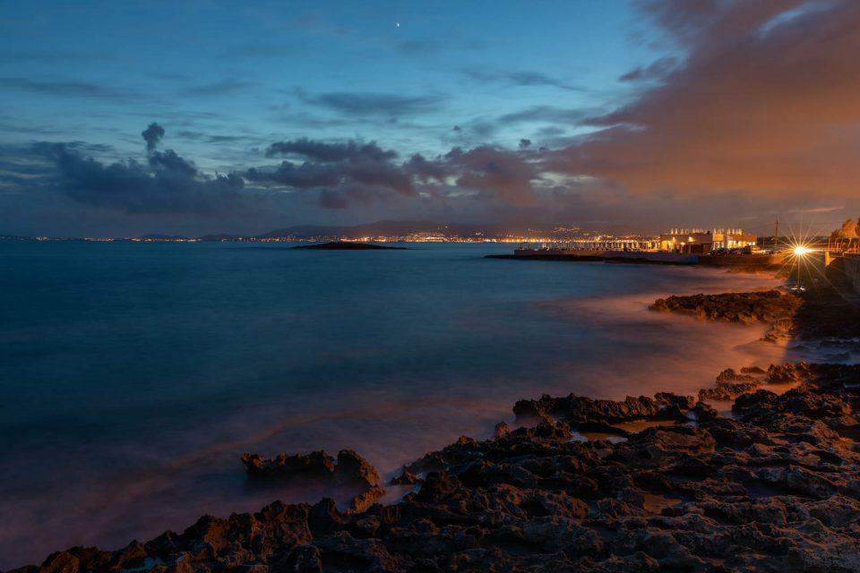 Abendlicher Blick nach Palma de Mallorca