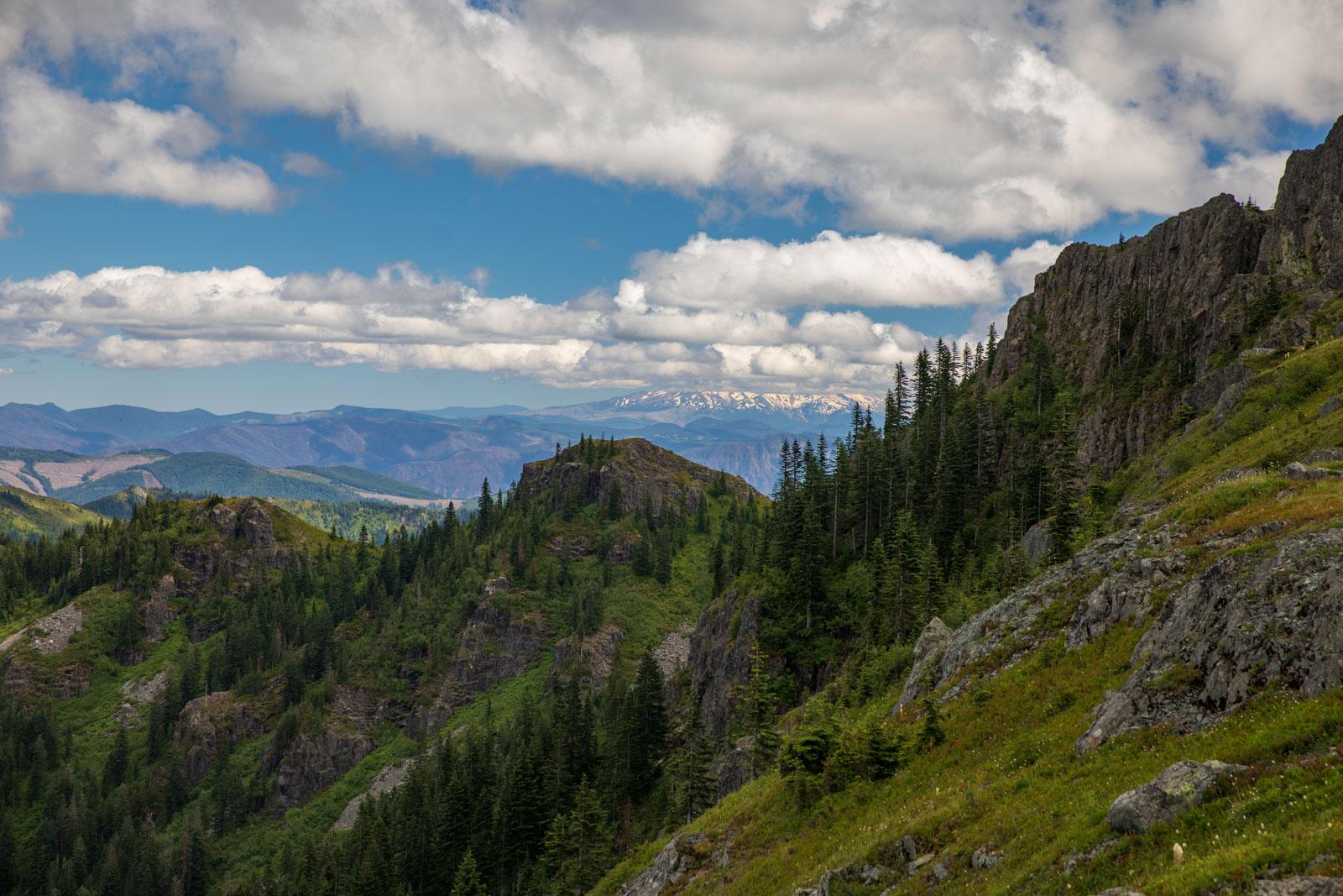 Blick nach Süden zum Mt. Hood