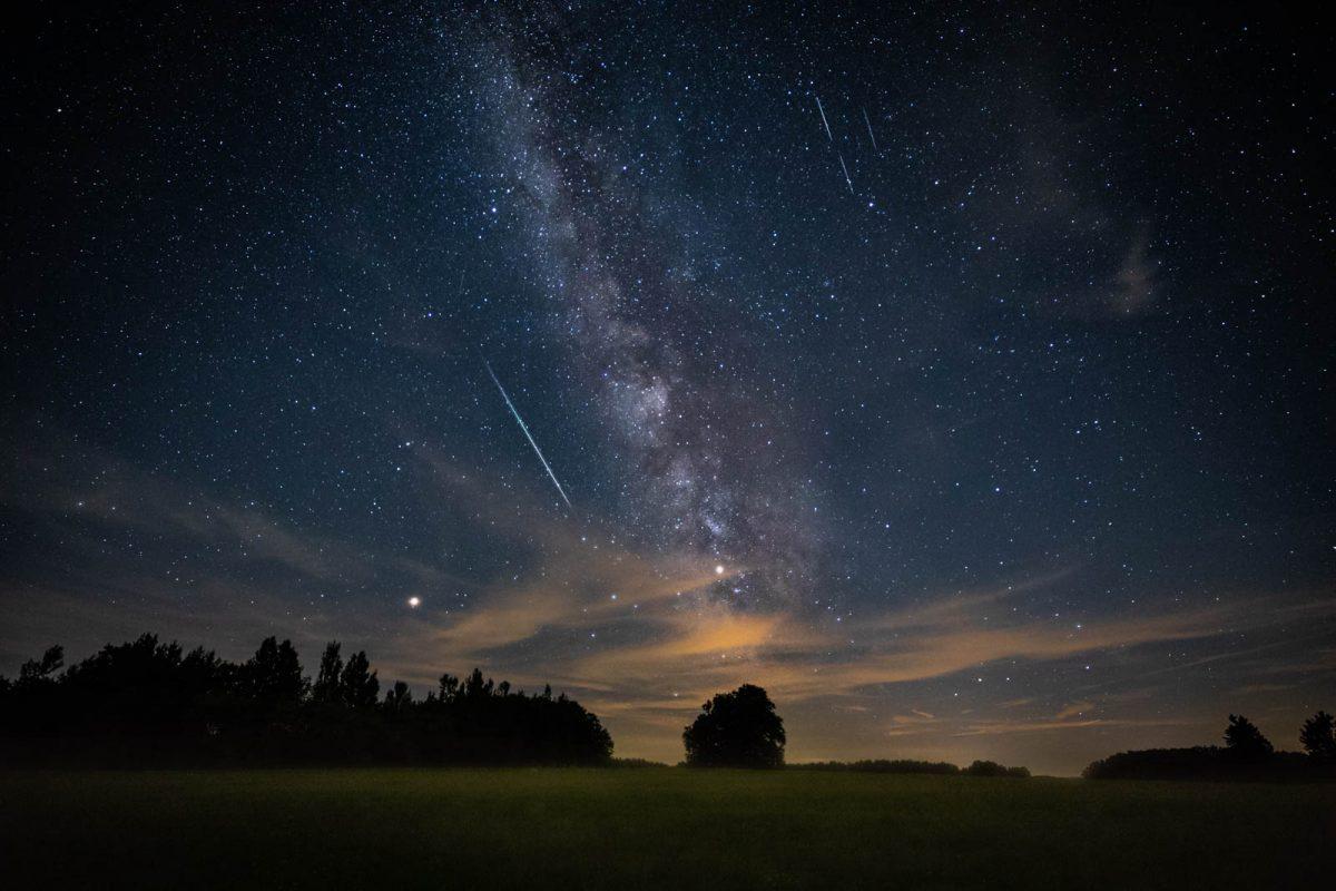 Milchstraße, Mars und Meteoriten