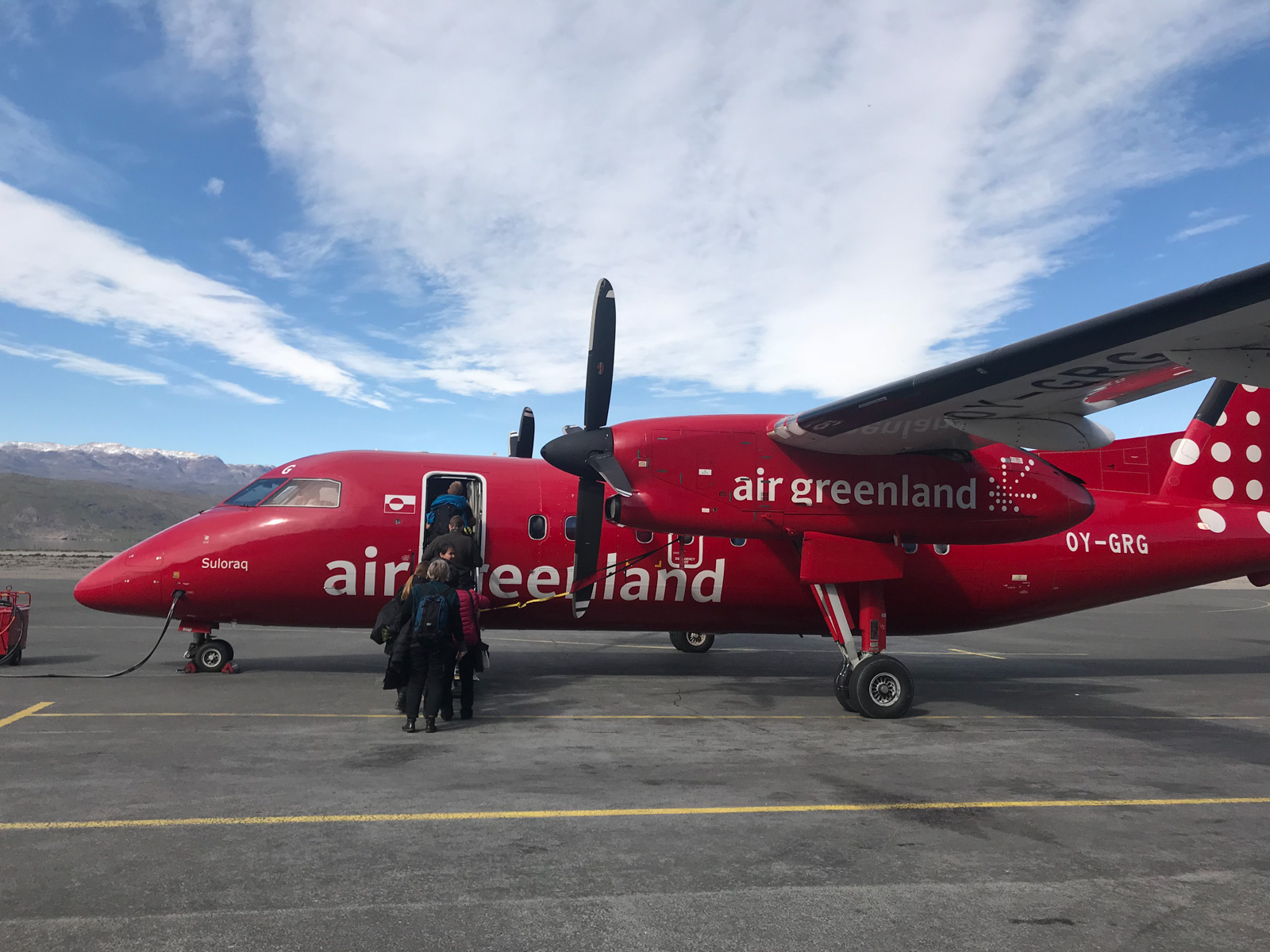 Photo: Die roten Turboprop-Maschinen von Air Greenland