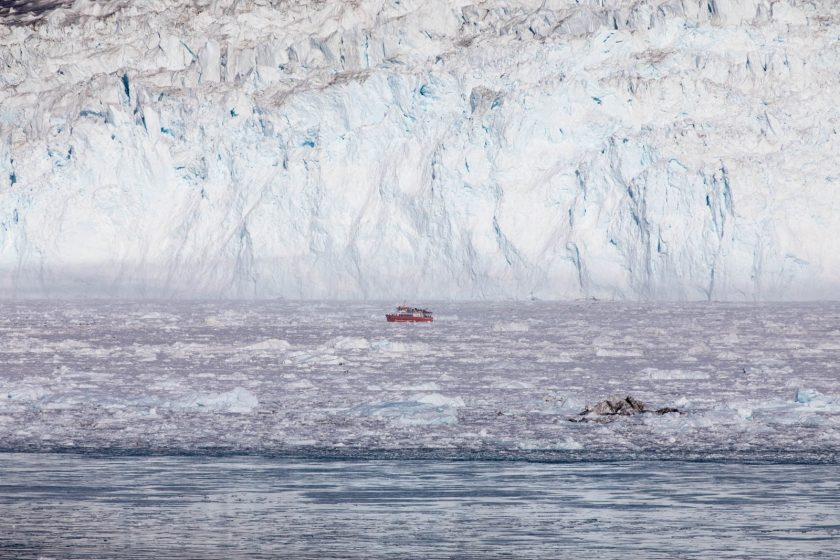 Camp Eqi, Grönland, Gletscher
