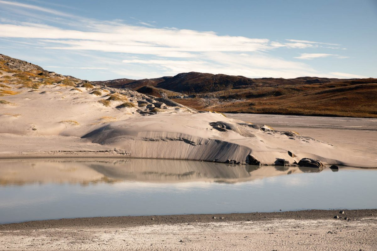 Sandwüste in Grönland, bei Kangerlussuaq