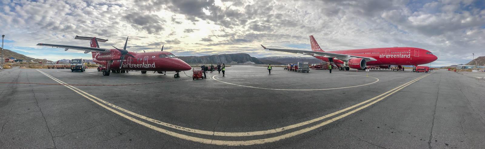 Photo: Der Flughafen von Kangerlussuaq mit Air Greenlands einzigem Düsenjet