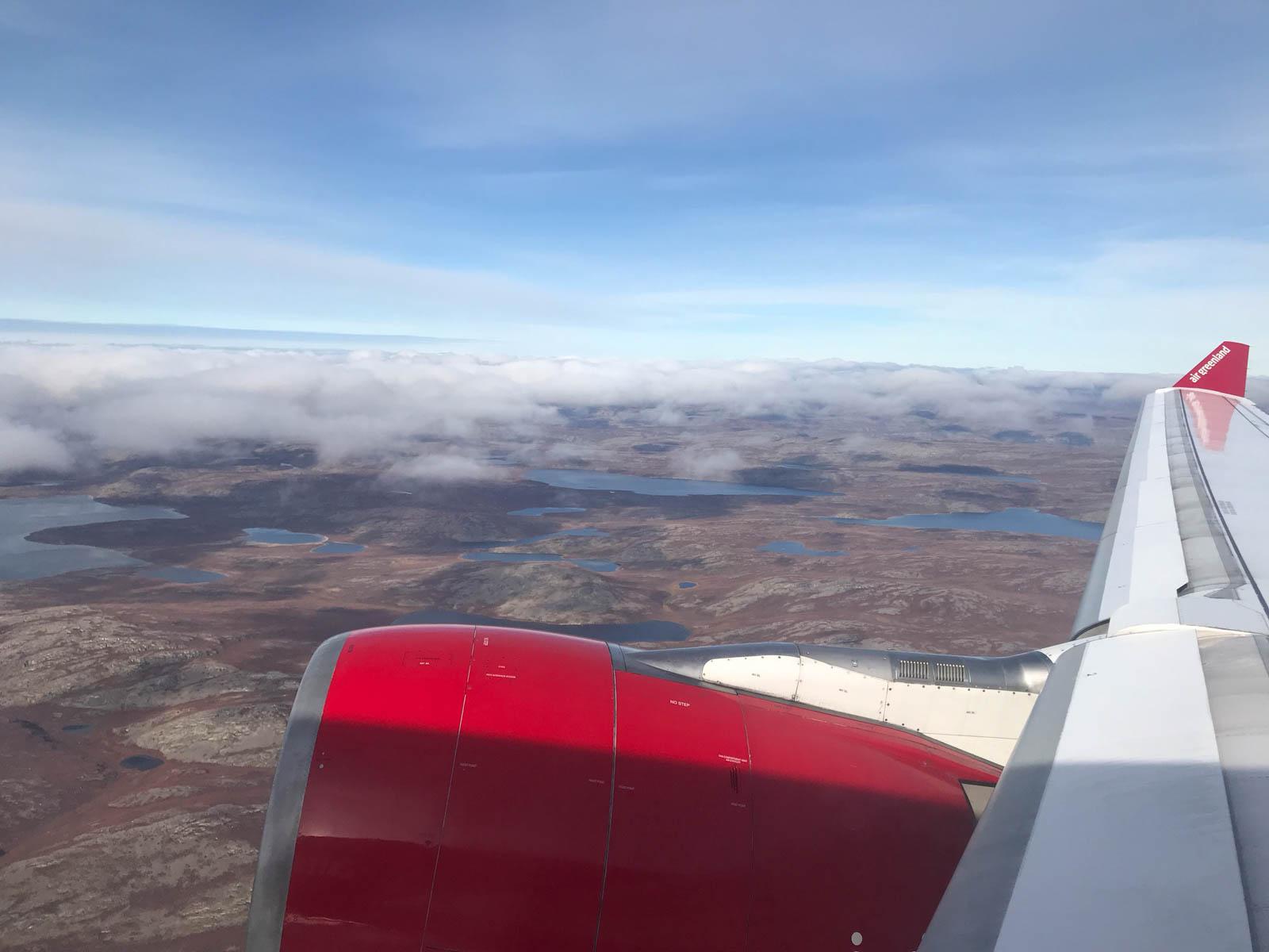 Rückflug von Kangerlussuaq, Grönland