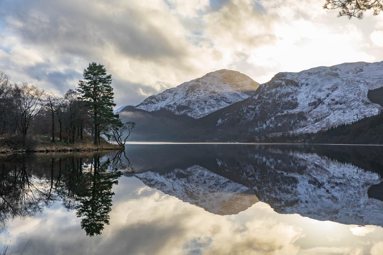 Spiegelung am Loch Eck, Schottland