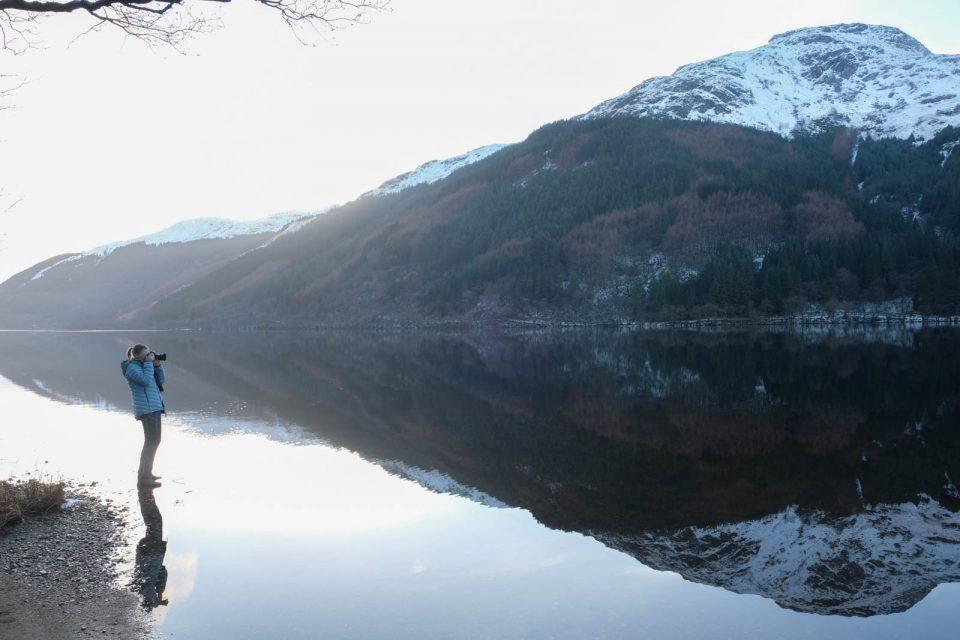 Sylvia Knittel, Loch Eck, Schottland