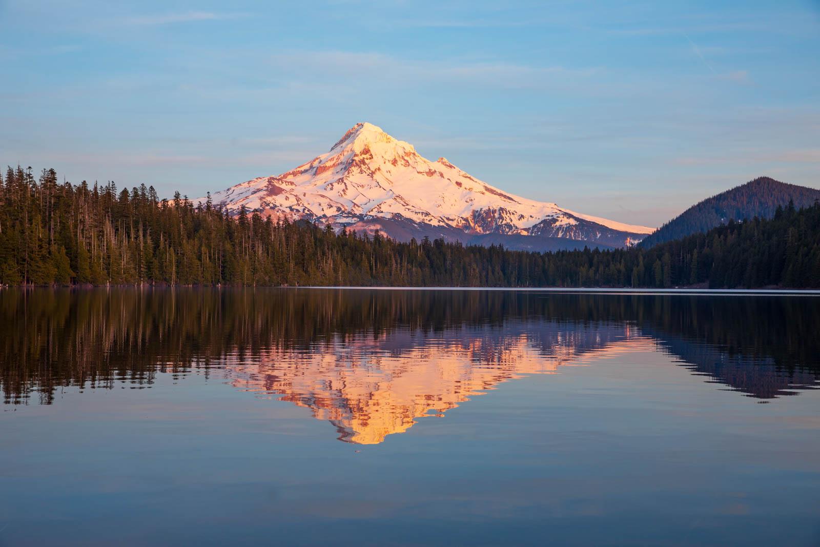 Lost Lake und Mt. Hood, Sonnenuntergang