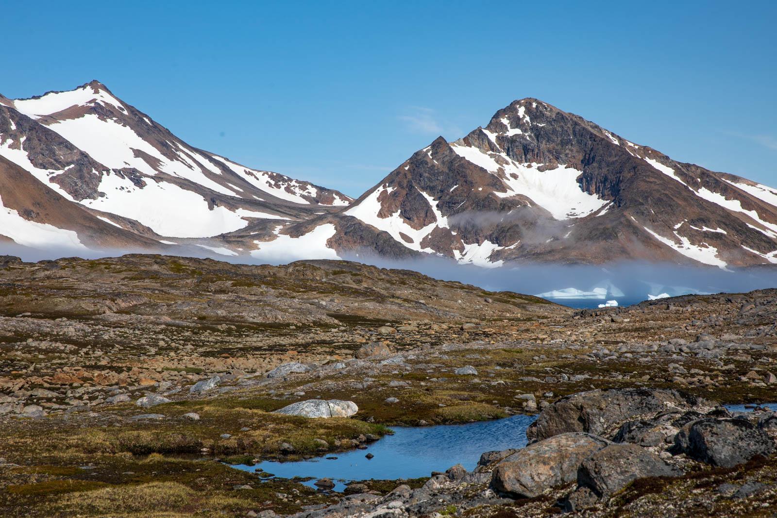 Kulusuk, Ostgrönland, Berge, Arktis