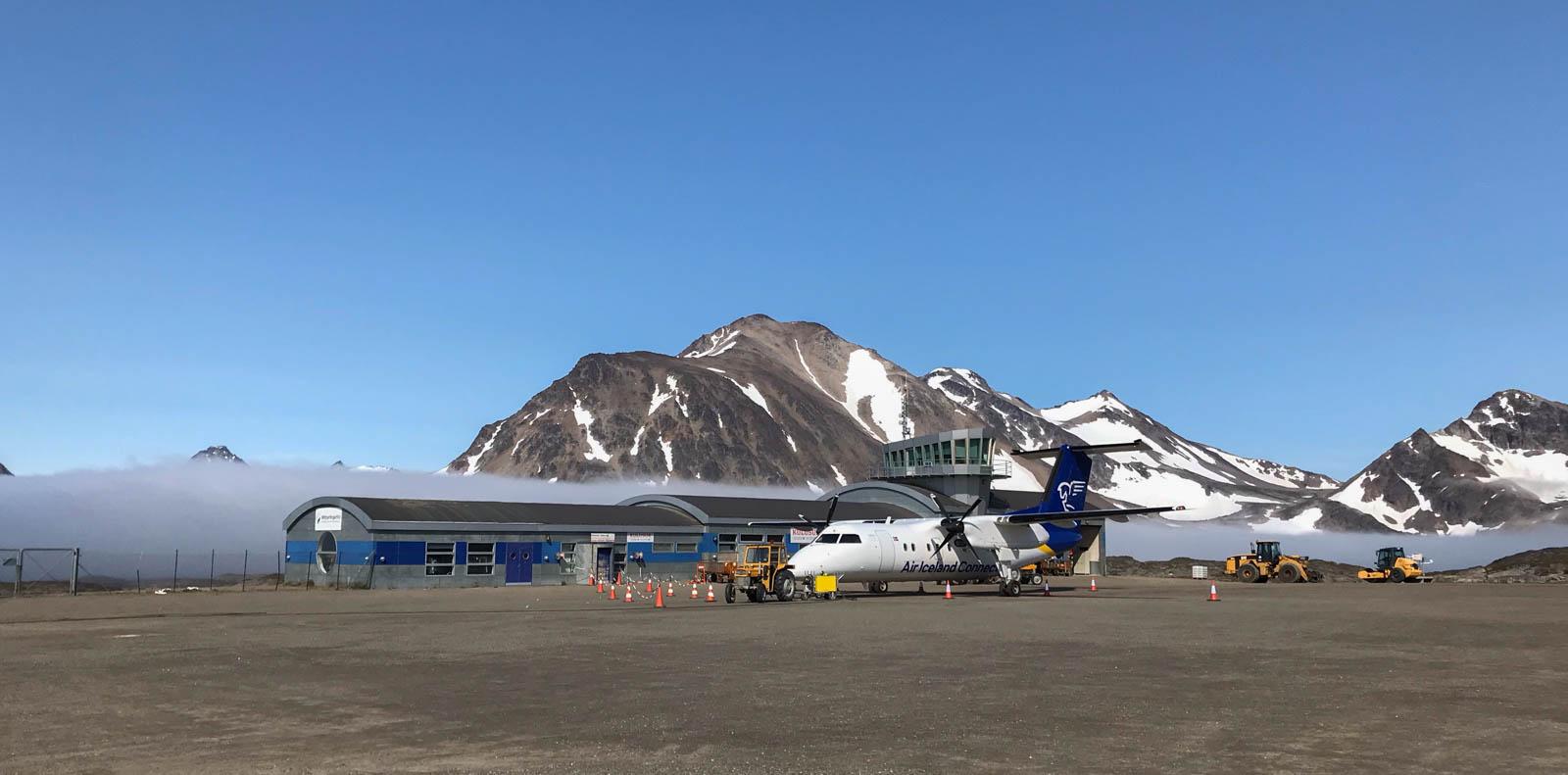 Flughafen von Kulusuk, Ostgrönland, Air Iceland Connect, Arktis