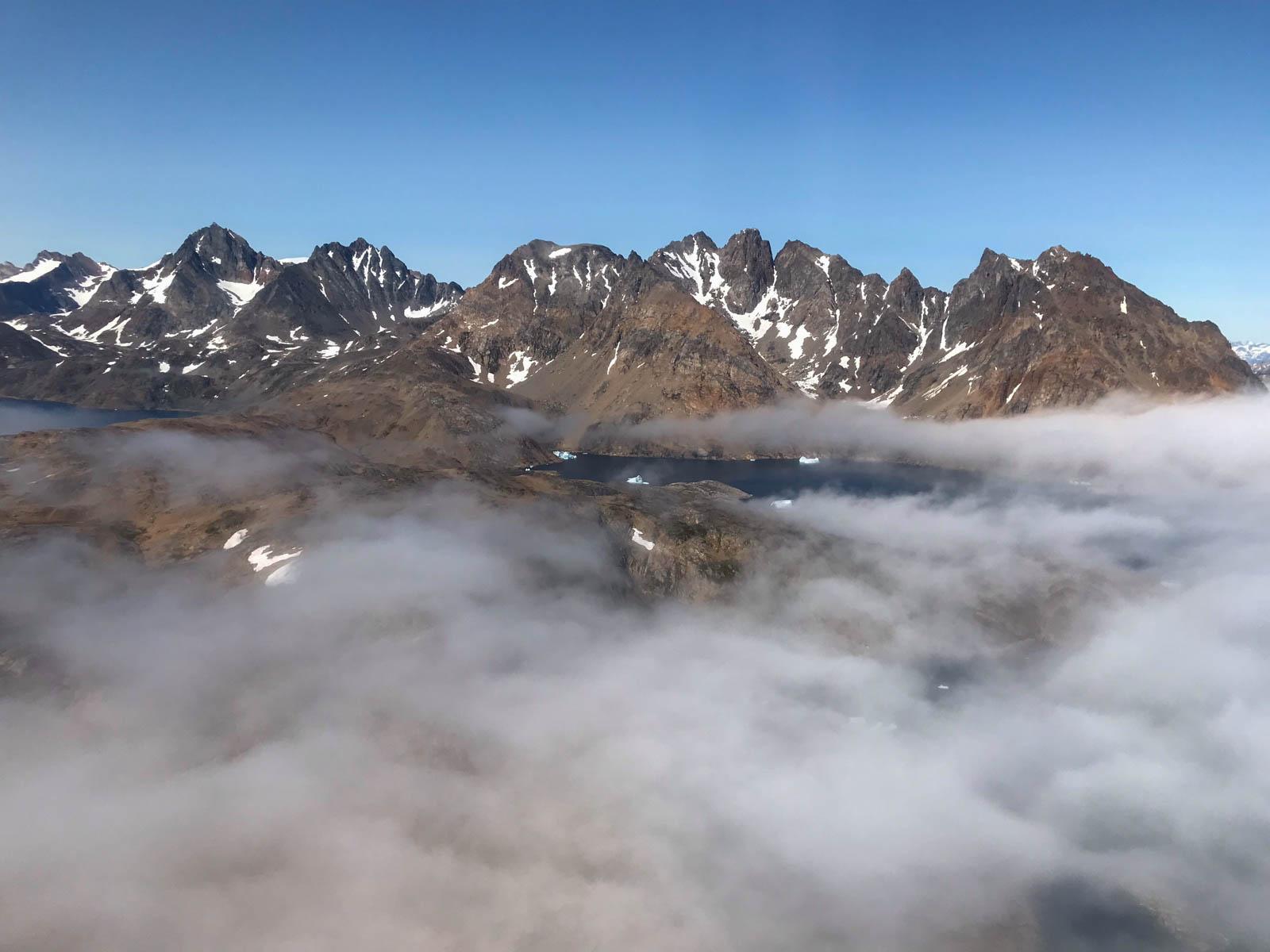 Helikopterflug, Tasiilaq, Ostgrönland