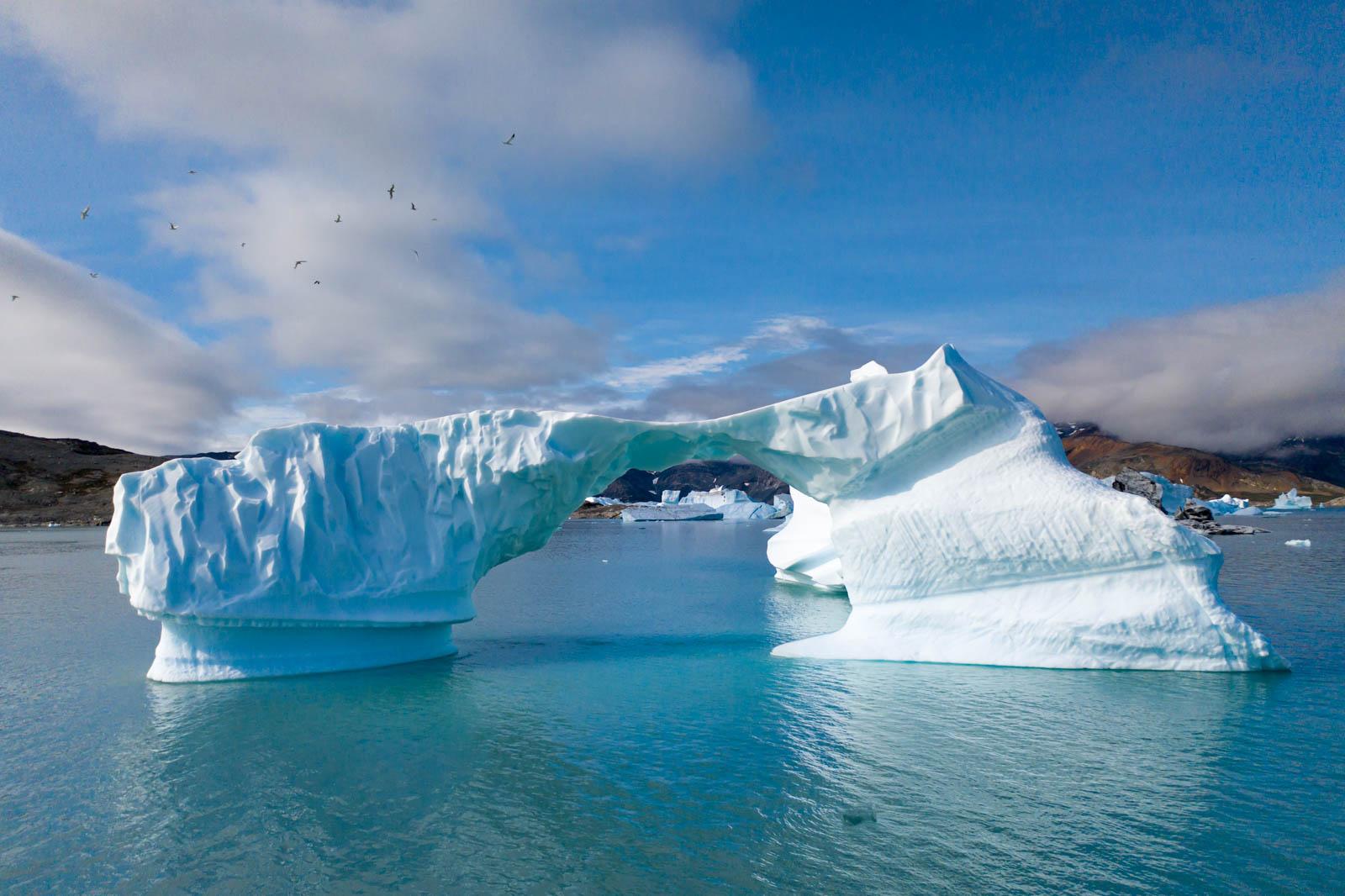 Ostgrönland, Grönland, Eisberg, Drohne, Mavic 2 Pro