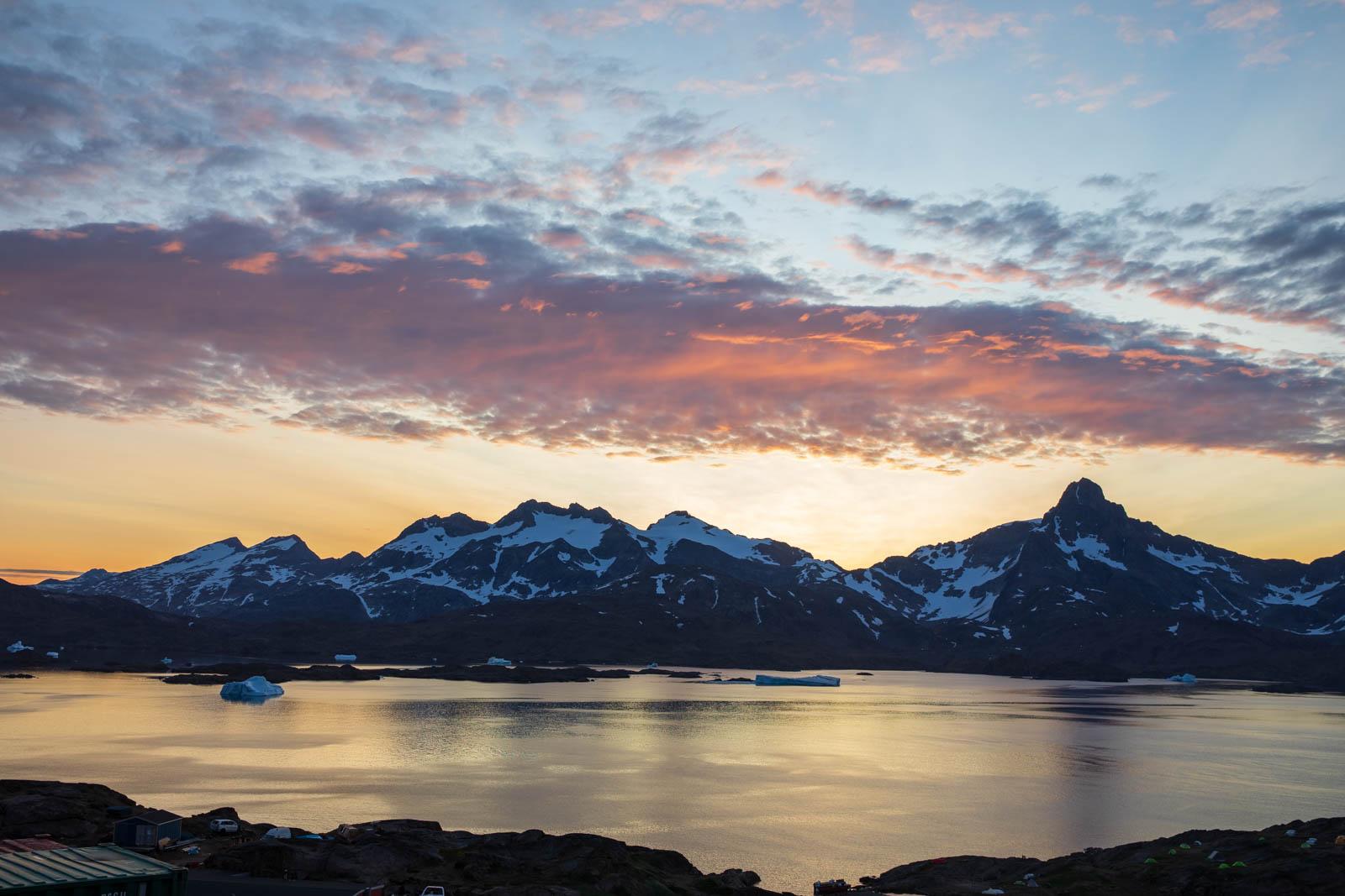 Ostgrönland, Grönland, Tasiilaq, Mitternachtssonne
