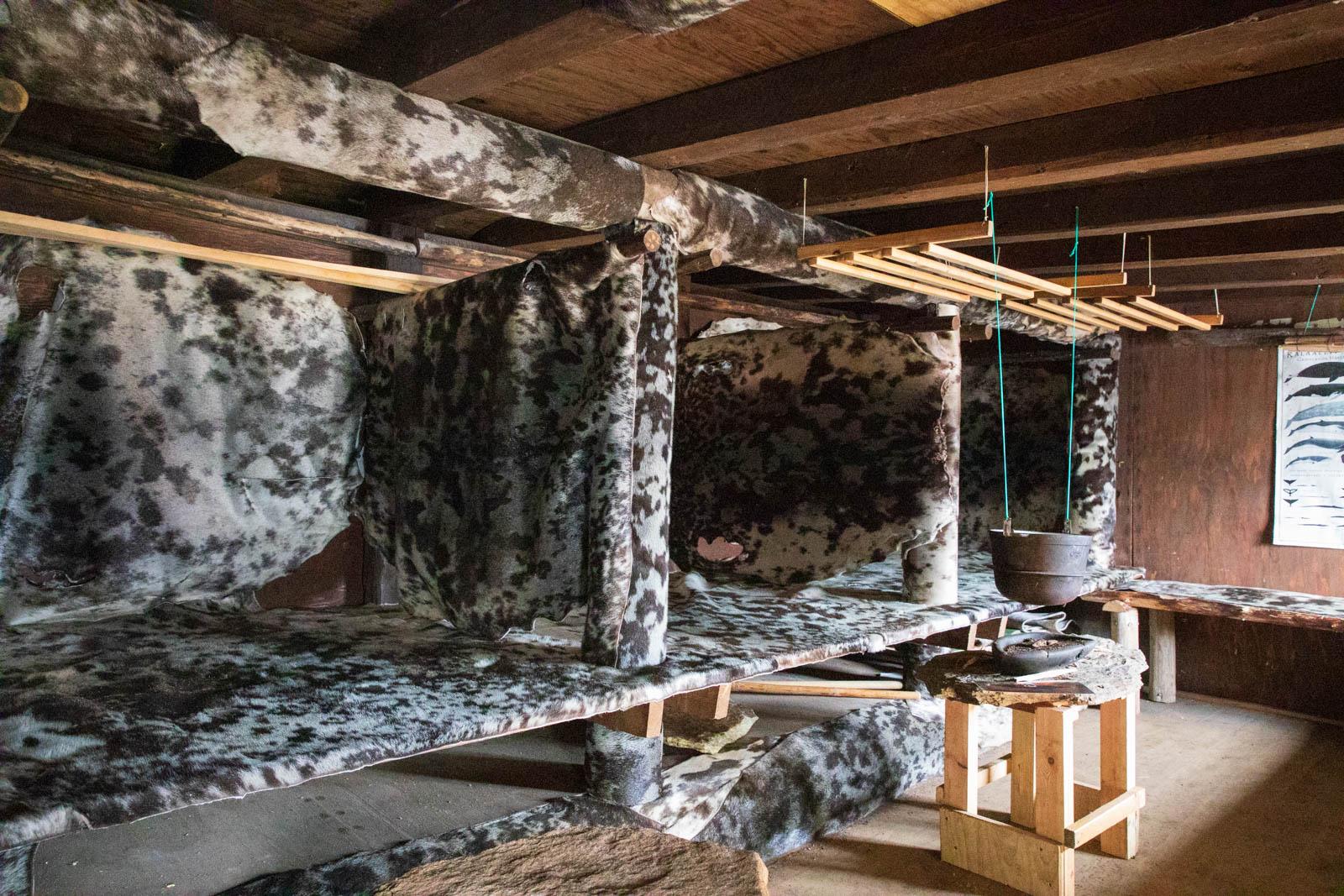 Photo: In jedem der Abteile im Erdhaus lebte eine Familie
