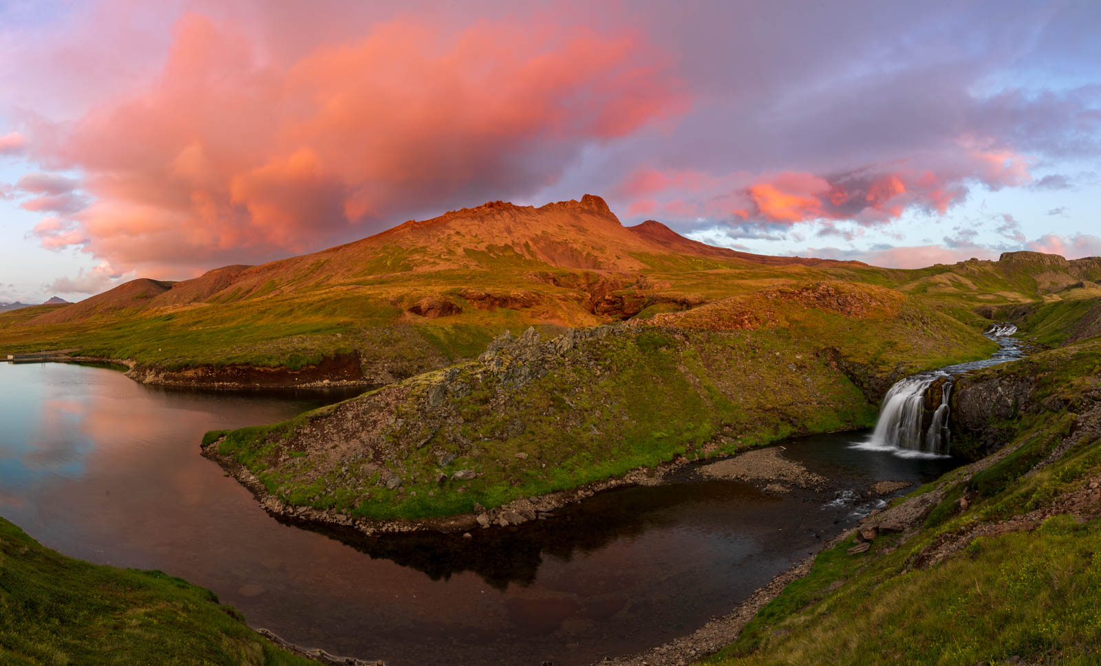 Photo: Sonnenuntergang um kurz vor Mitternacht
