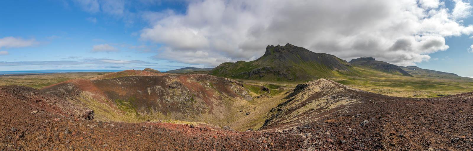 Photo: Der farbige Raudholl-Krater