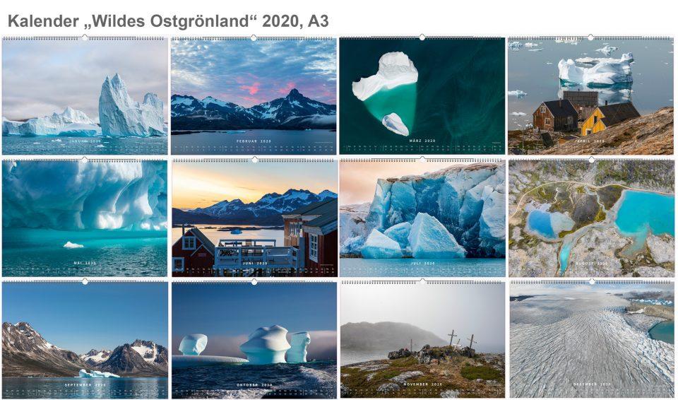 Kalender 2020 Grönland Bilder