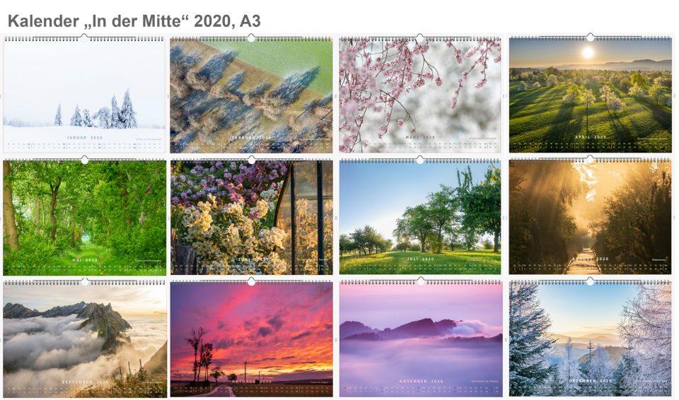 Fotokalender 2020 In der Mitte Bilder