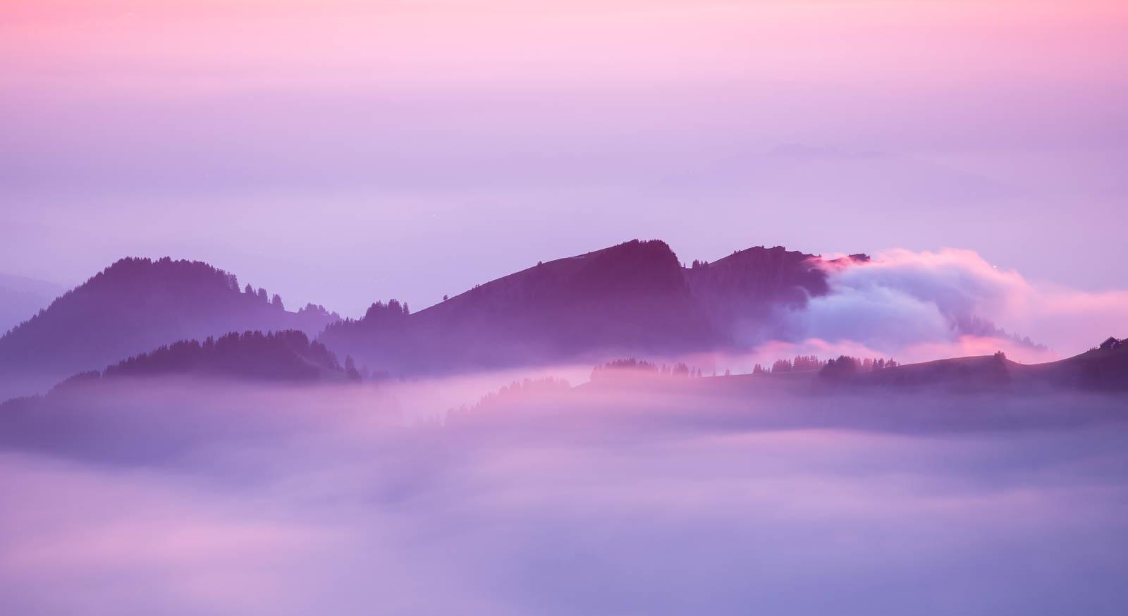 Photo: Selbst der Nebel war farbig